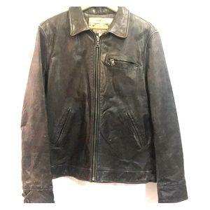 Banana Republic Men's Brown Leather Biker Jacket